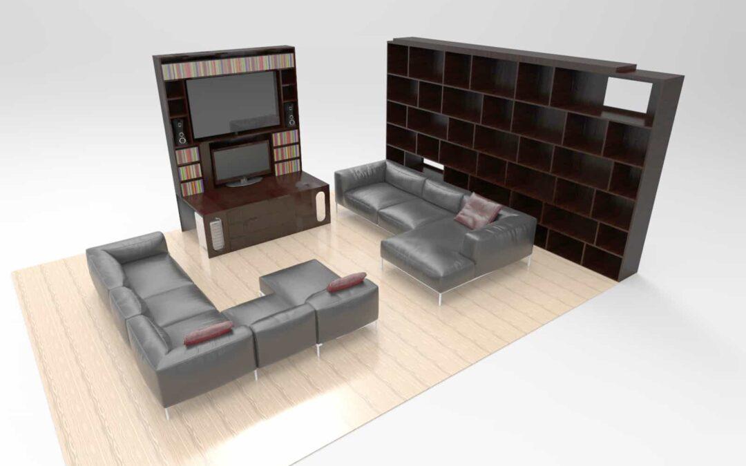 Diseño de muebles para salón